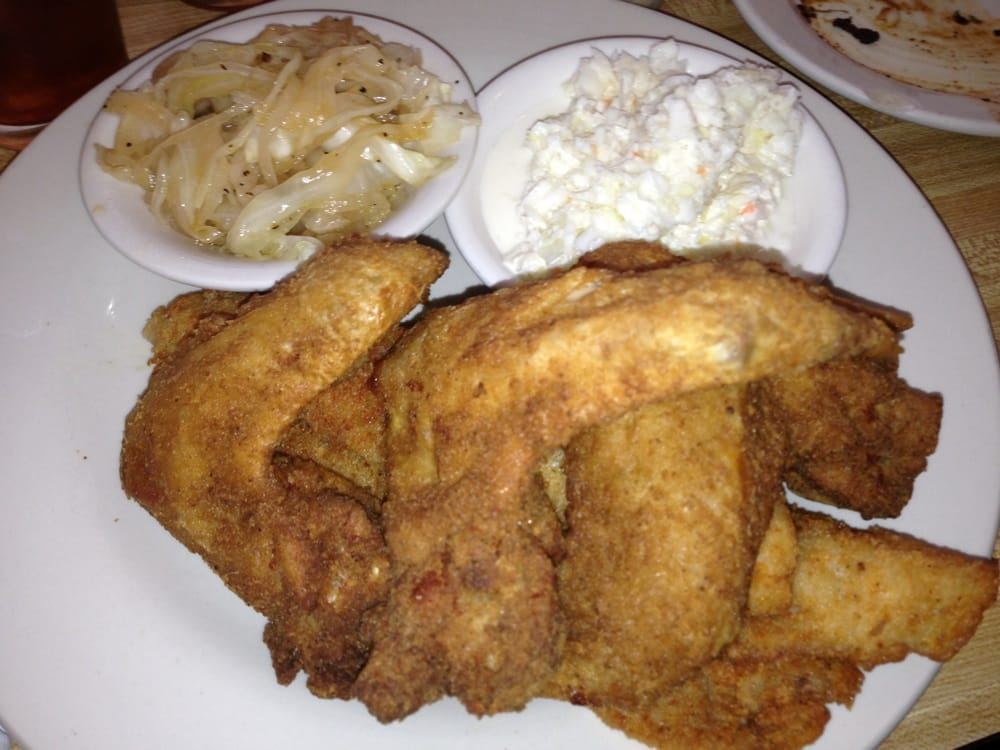 Fish and wings platter with cabbage and coleslaw yelp for Fish and wings