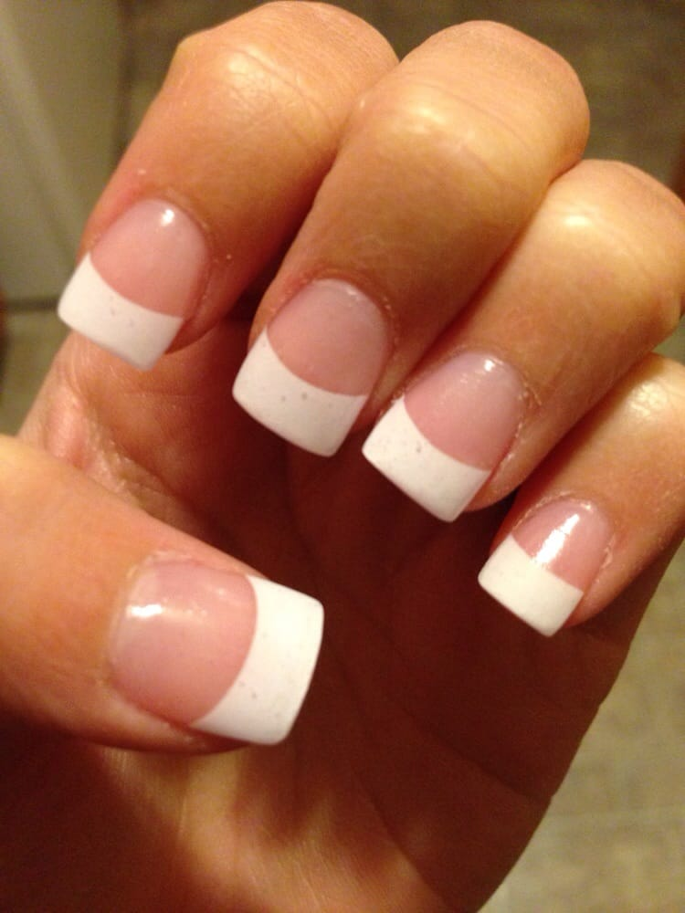 full set of acrylic nails with white tip $25 - Yelp