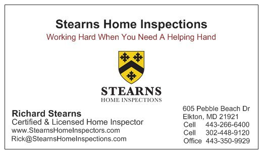 Stearns Home Inspections: 605 Pebble Beach Dr, Elkton, MD