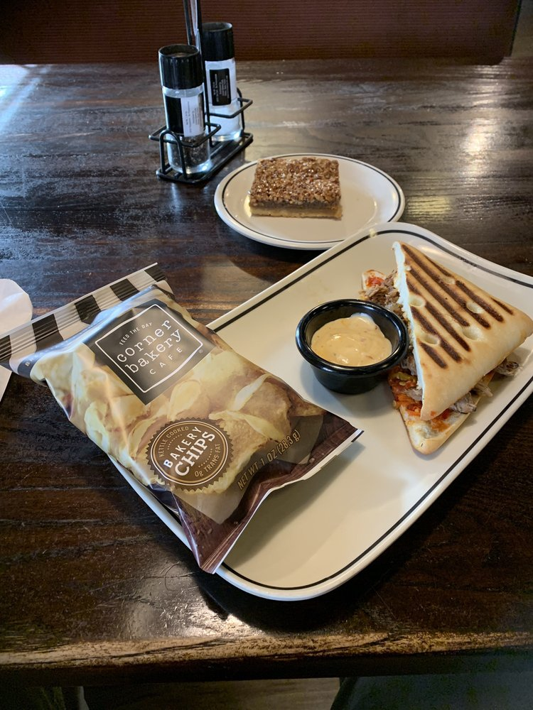Food from Corner Bakery Cafe