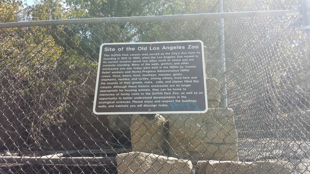 Old L A Zoo Sign Yelp