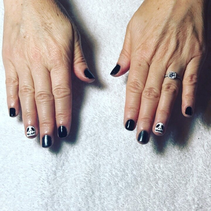 Jack Skellington Nails Just in time for Halloween - Yelp