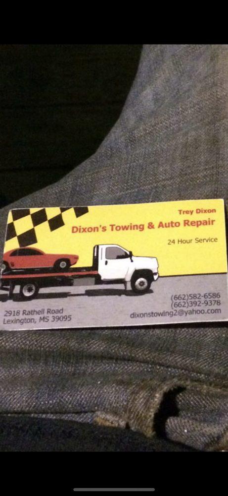 Dixon's Towing & Auto Repair: 2918 Rathell Rd, Lexington, MS