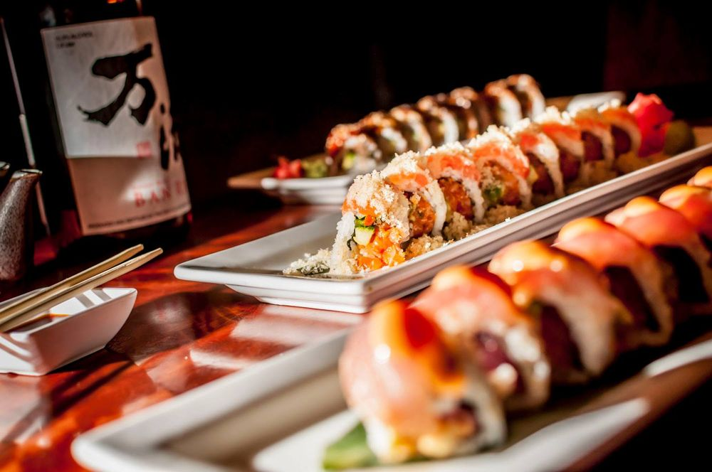 Food from Crave American Kitchen & Sushi Bar