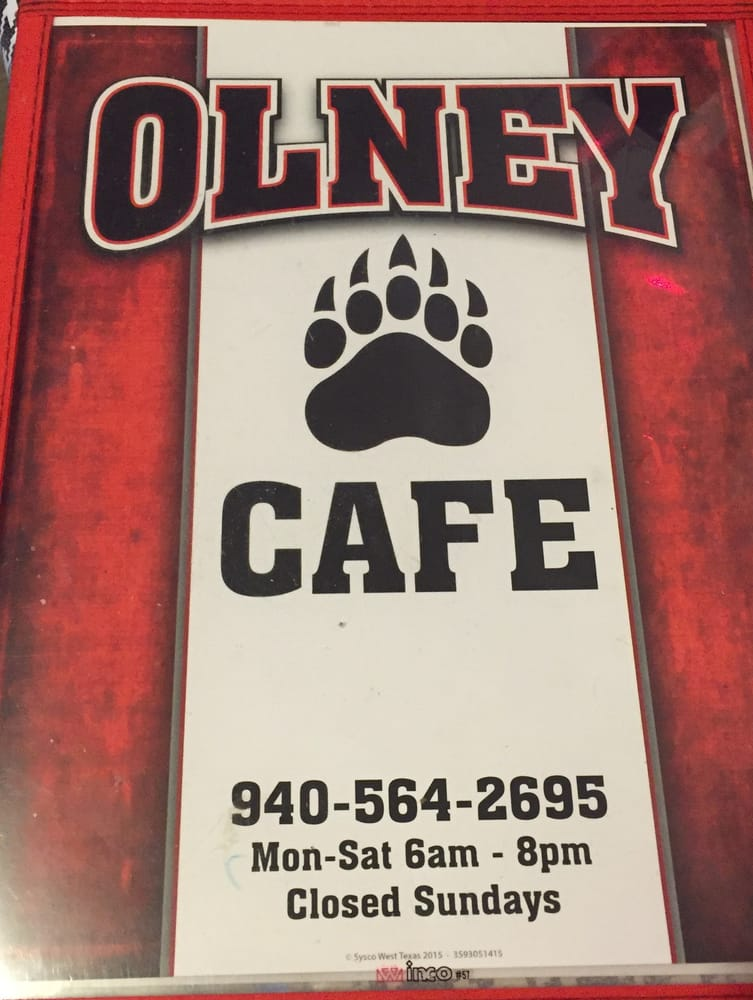 The Olney Cafe: 1002 State Hwy 79 S, Olney, TX