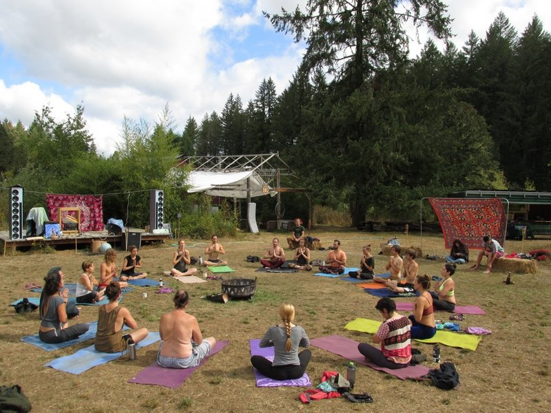 Photo of Lost Valley Educational Center - Dexter, OR, United States. Yoga Workshop in the Meadow
