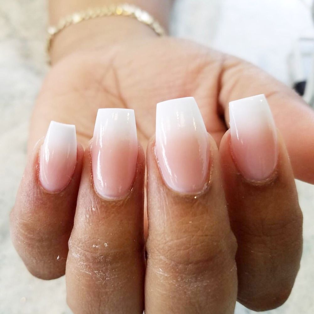 French ombré acrylic nails by Rachel - Yelp