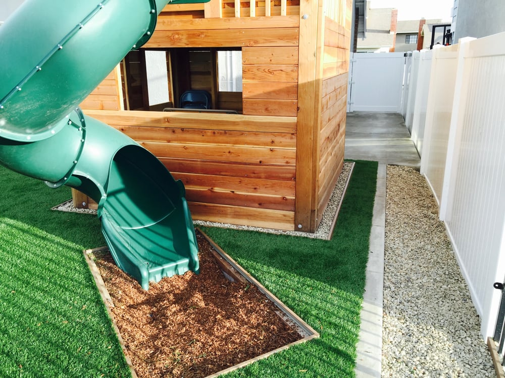 Artificial Turf Surrounding Play Area And Vinyl Gates Yelp