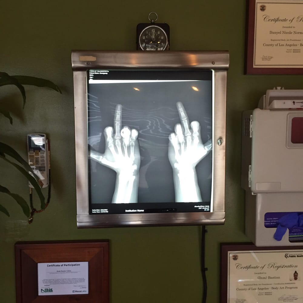 Amazing old x ray light box yelp for Body electric tattoo piercing los angeles ca