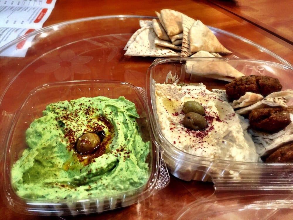 The Spicy Avocado Hummus And Classic Hummus