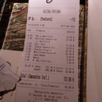 precios del restaurante amazonico