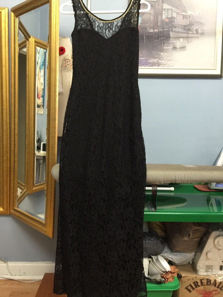 All Lace Dress Shorten Hem And Take In From Sides Yelp