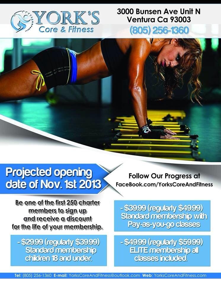 York's Core & Fitness: 3000 Bunsen Ave, Ventura, CA