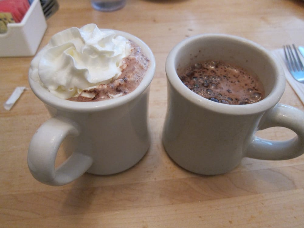 Hot Chocolate With And Without Whipped Cream Yelp