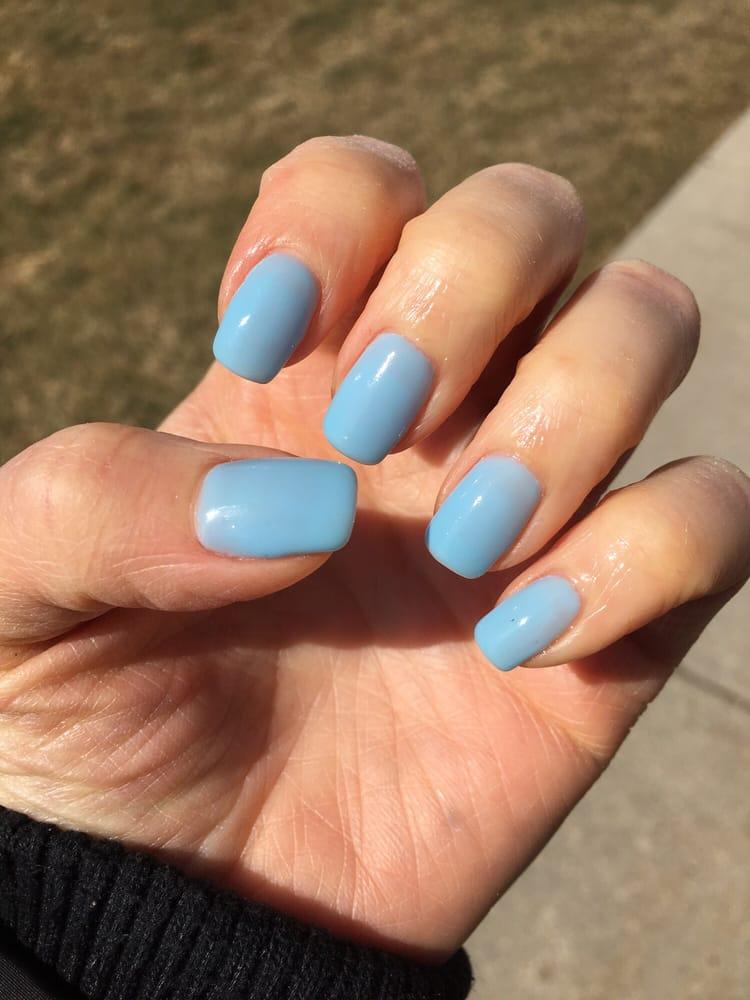Pastel Blue Gel Nails! Loving it!! - Yelp