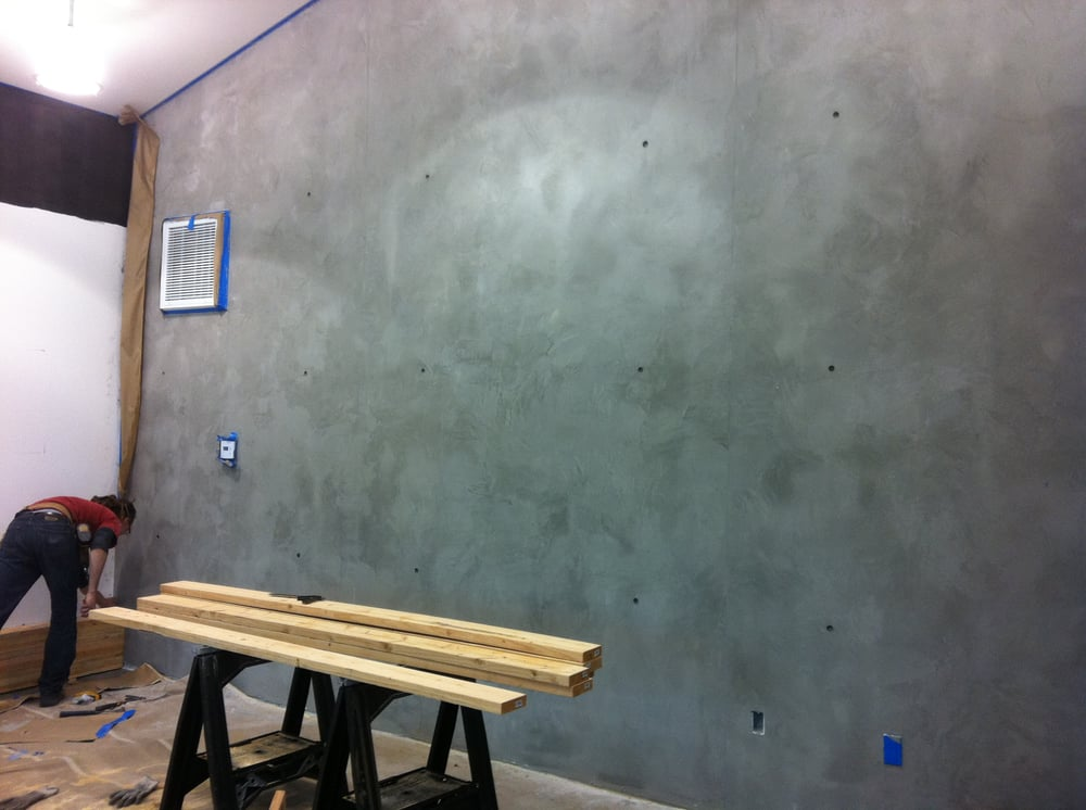 Concrete Wall Finish Directly Over Drywall Very Thin