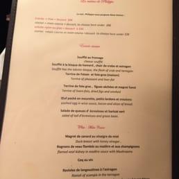 photos pour la cuisine de philippe menu yelp