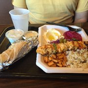 Mama Pita Mediterranean Grill - Plano, TX, United States. Platter of all the things!