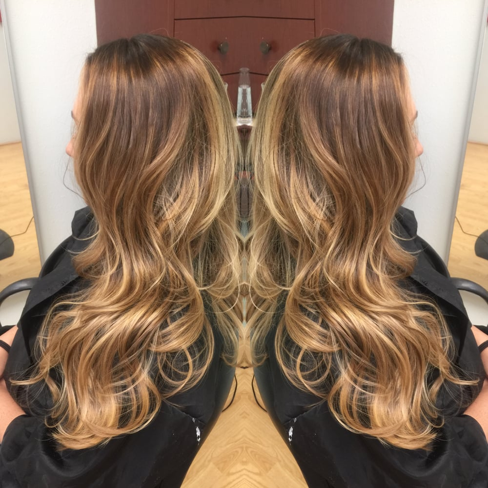 d9f9299575 Light Ash Dark Brown Base with Gold Beige Honey Blonde Highlights - Yelp