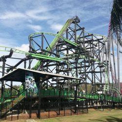 Green Lantern Coaster Arts Entertainment Movie World Oxenford