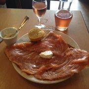 Le Petit Josselin - Paris, France. Salmon Gallette with cream