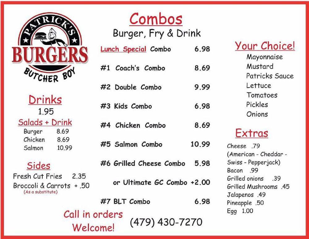 Patrick's Butcher Boy Burgers: 215 Westfork St, Alma, AR