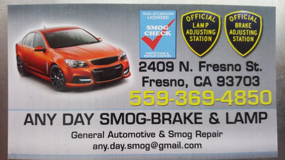 Any Day Smog-Brake & Lamp
