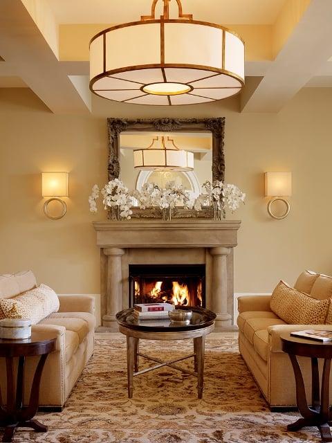 Photo Of Garden Court Hotel   Palo Alto, CA, United States. Lobby Fireplace