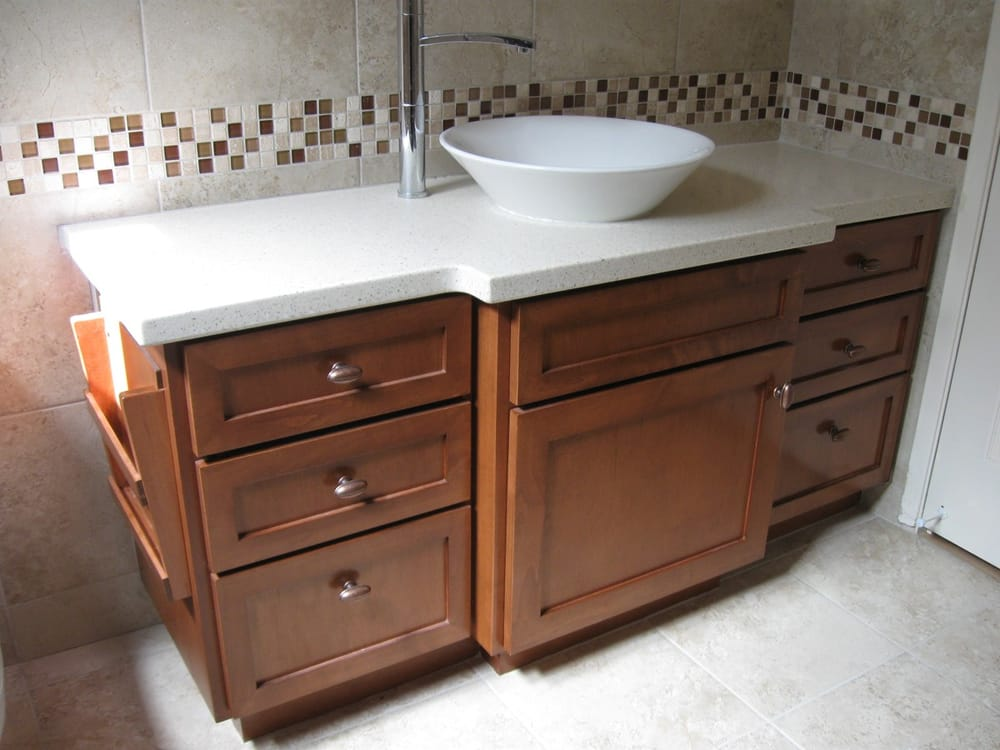 Bathroom vanity made by t b cabinets yelp for Bathroom cabinets yelp