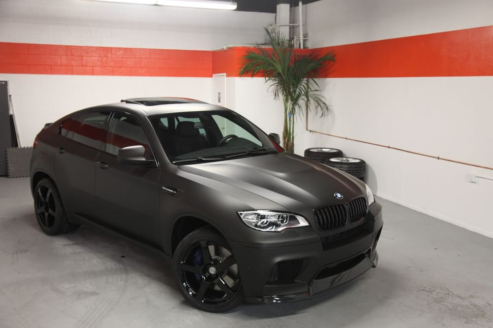 2013 Bmw X6m After Matte Black Vinyl Wrap And Upgraded