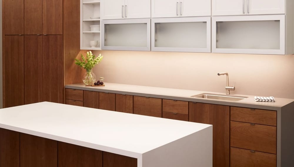 quality kitchen cabinets san francisco kemper whitman maple in painted white with caprice cherry 7616