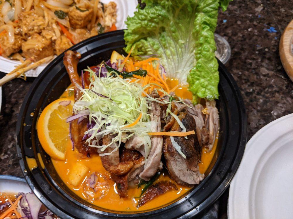 Food from Thai Wisdom Bistro