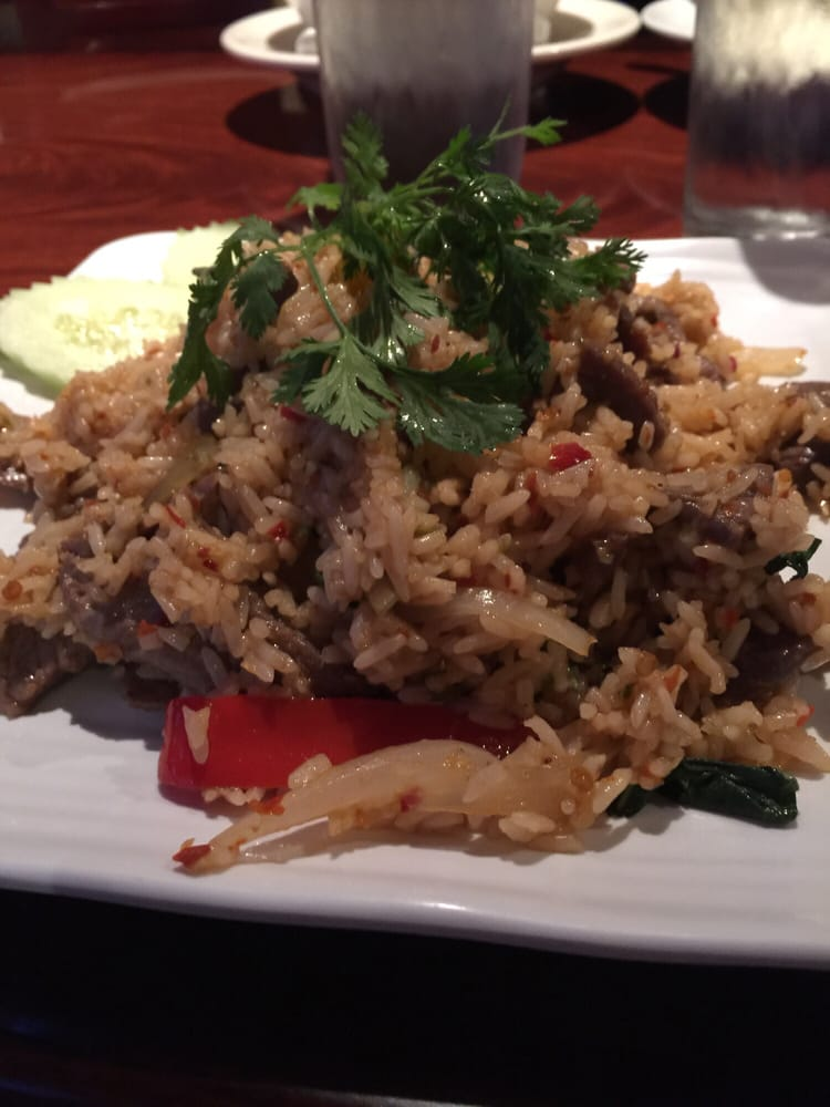 Spicy beef fried rice Yelp