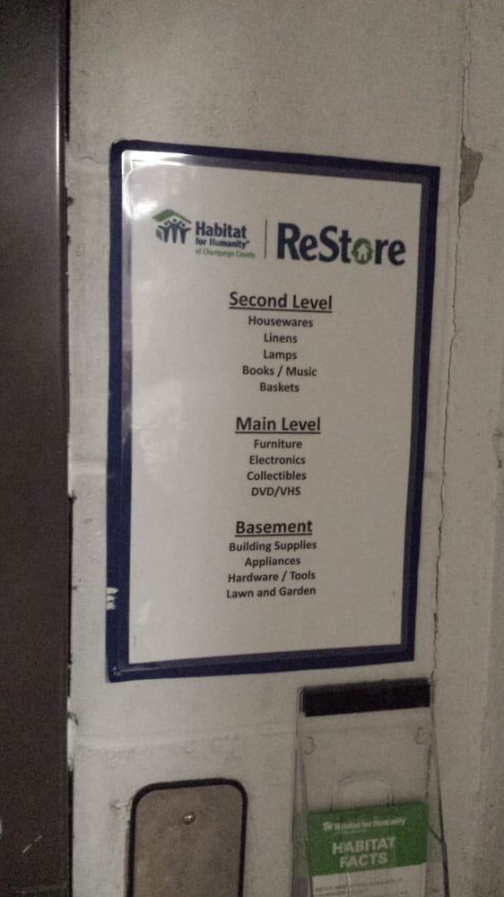 The Habitat for Humanity ReStore: 119 E University Ave, Champaign, IL