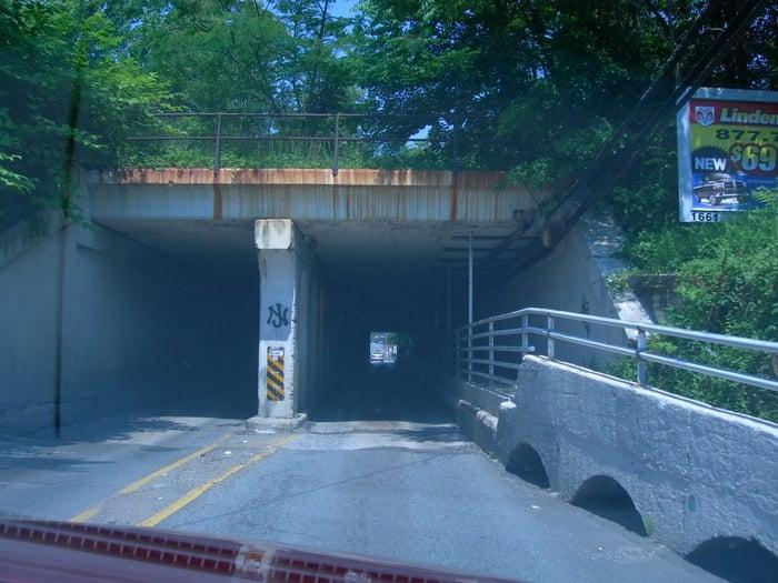 Hole in the wall: North Stevens Avenue & Pupek Road, South Amboy, NJ