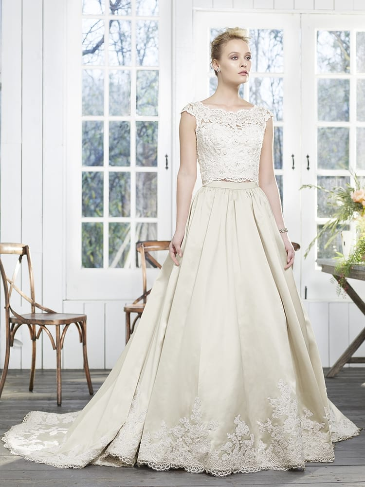 Peony by Casablanca Bridals is a beautiful two-piece wedding dress ...