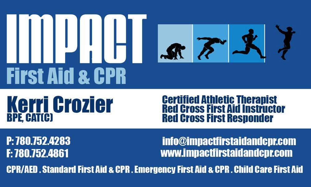 Impact First Aid Cpr First Aid Classes Edmonton Ab Phone