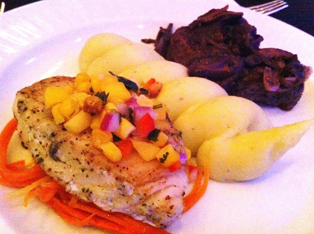 Catering Petite Filet Mignon And Sea Bass Basil