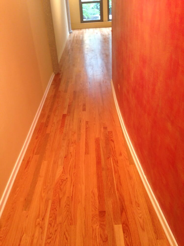 Select grade red oak with a natural finish yelp for Hardwood flooring inc