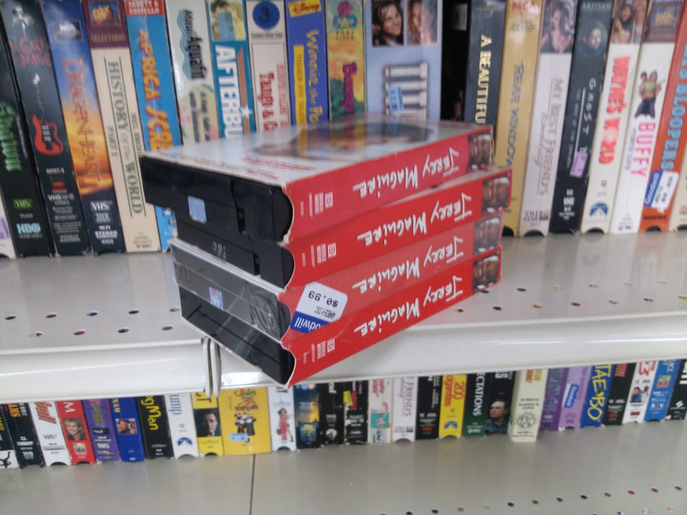 4 jerry maguire vhs tapes for everything is terrible at 10 cents a