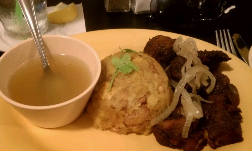 Mofongo con carne frita yelp for Austin s caribbean cuisine
