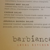 Barbianca Local Kitchen Reservations 159 s & 130
