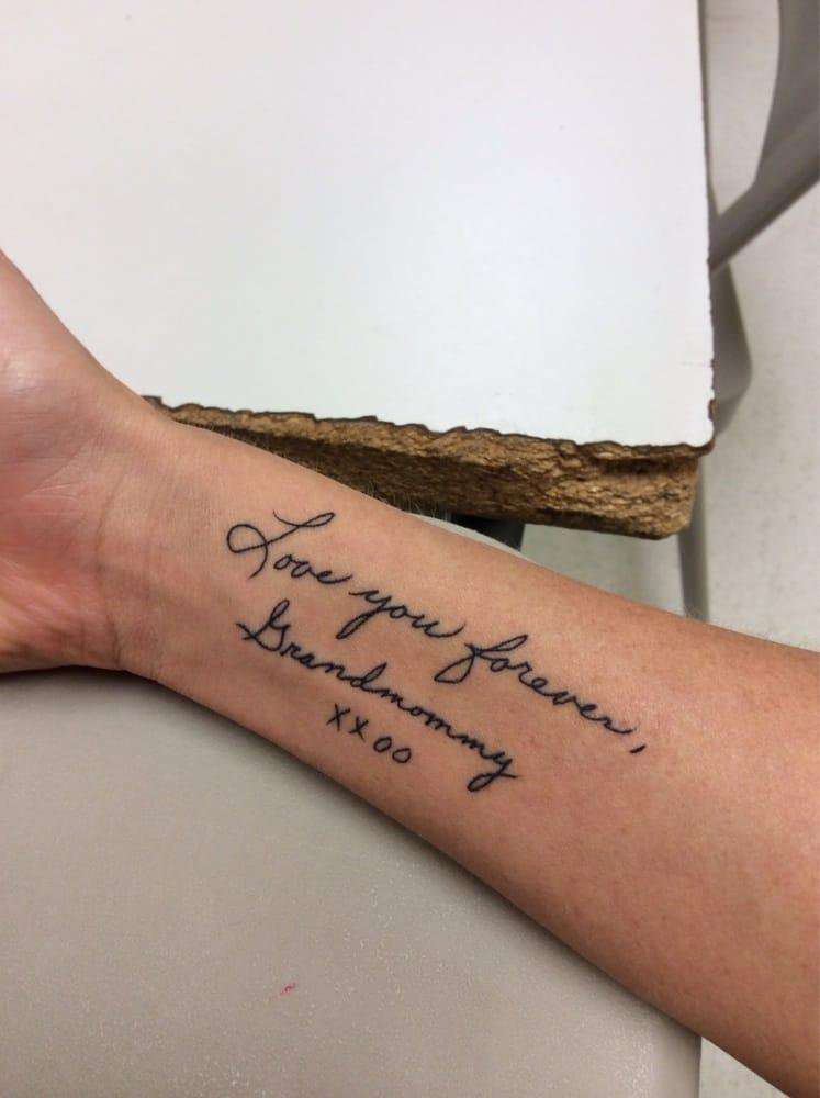 754ff87e7ff49 Photo of Empire Tattoo Boston - Somerville, MA, United States. My  handwritten script