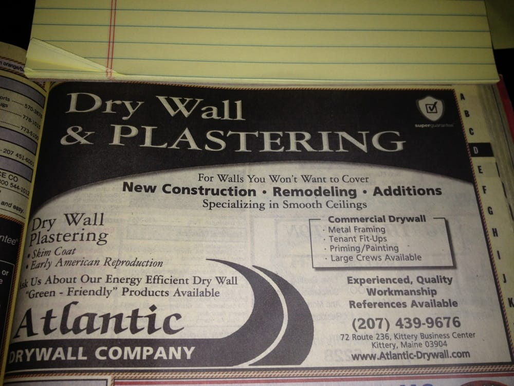 Atlantic Drywall Company - Get Quote - Contractors - 72 Rt 236 ...