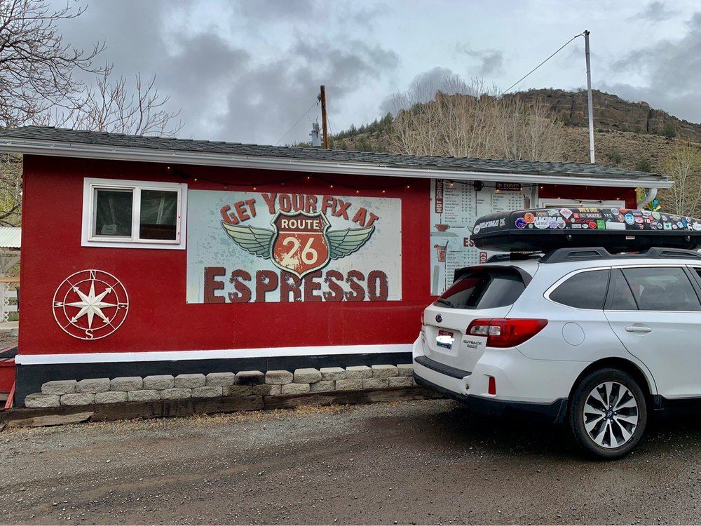 Route 26 Espresso: 601 W Hwy 26, Mitchell, OR