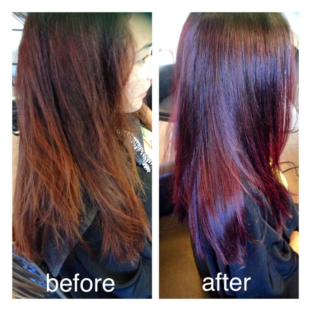 Healthy Shiny And Beautiful Hair Hair Color Used Is Ammonia Free