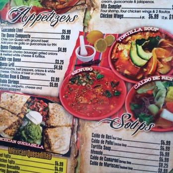 Christina S Authentic Mexican Food Restaurant Menu