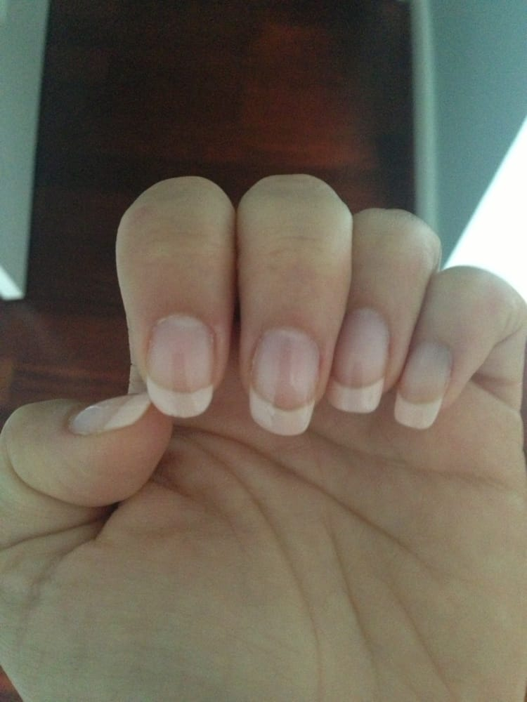 Nice job on French manicure. Probably wash my hands too much for ...