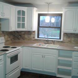 Photo Of NDD Refinishing   Pittsburgh, PA, United States. AFTER Oak Cabinets  Painted