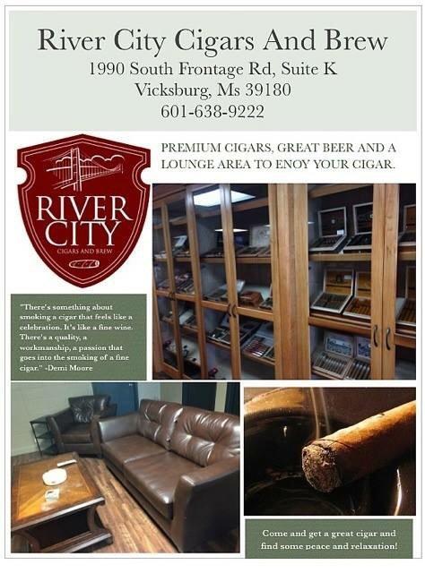 River City Cigars & Brew: 1990 S Frontage Rd, Vicksburg, MS